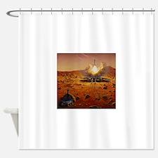 mars base Shower Curtain