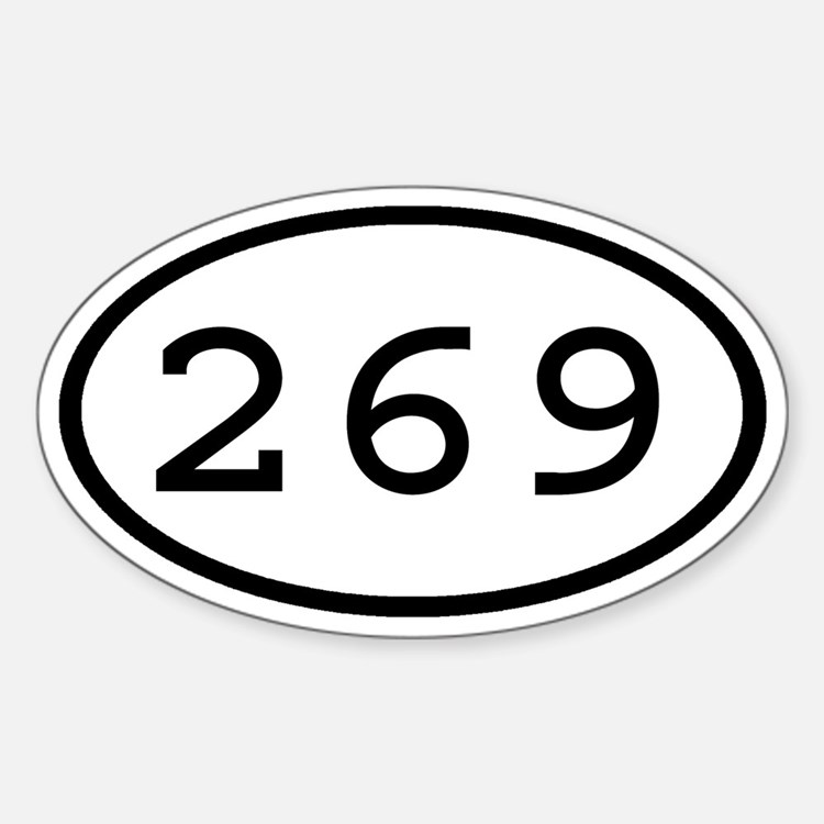 269 Oval Oval Decal