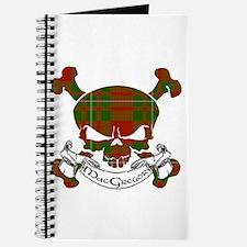 MacGregor Tartan Skull Journal
