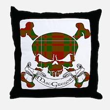 MacGregor Tartan Skull Throw Pillow