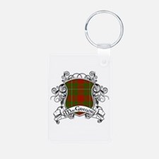 MacGregor Tartan Shield Aluminum Photo Keychain