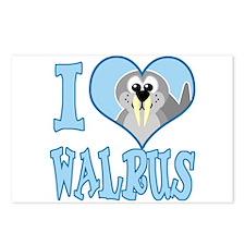I Love (Heart) Walrus Postcards (Package of 8)
