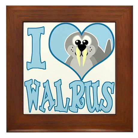 I Love (Heart) Walrus Framed Tile