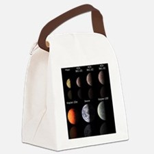 Cute Satellite Canvas Lunch Bag