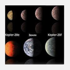 Cute Astronomer Tile Coaster