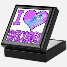 I Love (Heart) Unicorns Keepsake Box