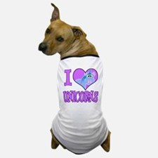 I Love (Heart) Unicorns Dog T-Shirt