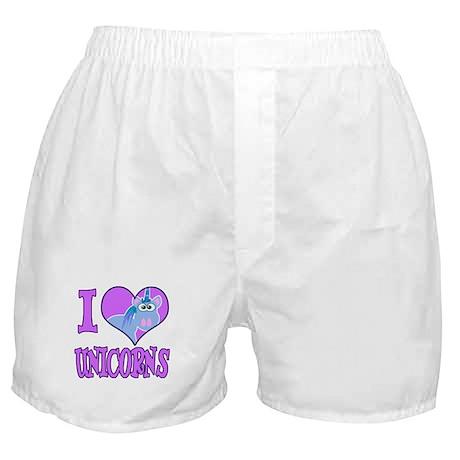I Love (Heart) Unicorns Boxer Shorts