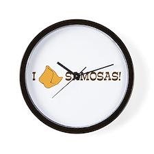 I Love Samosas Wall Clock
