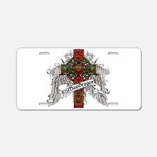 MacGregor Tartan Cross Aluminum License Plate