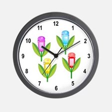 GPS Flowers Wall Clock