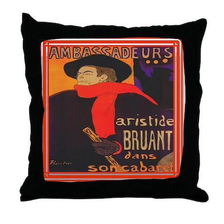 Aristide Bruant Throw Pillow