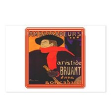 Aristide Bruant Postcards (Package of 8)