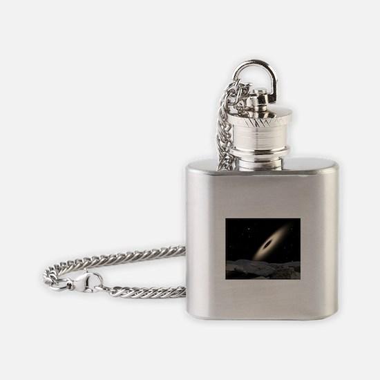 Cute Satellite Flask Necklace