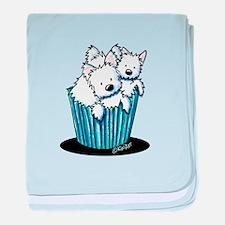 KiniArt Westie Pupcake baby blanket