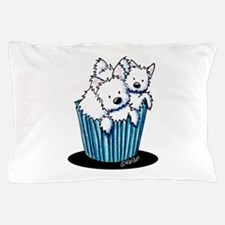 KiniArt Westie Pupcake Pillow Case