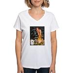 Fairies & Bolognese Women's V-Neck T-Shirt