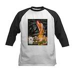Fairies & Bolognese Kids Baseball Jersey