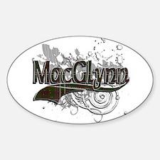 MacGlynn Tartan Grunge Sticker (Oval)