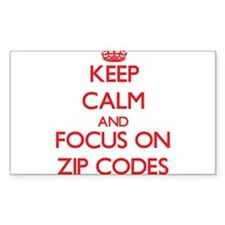 Keep Calm and focus on Zip Codes Stickers