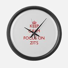 Cute Zits Large Wall Clock