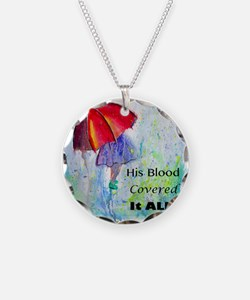First Red Umbrella Necklace