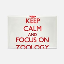 Keep Calm and focus on Zoology Magnets