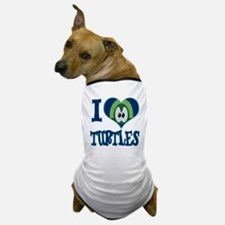 I Love (Heart) Turtles Dog T-Shirt