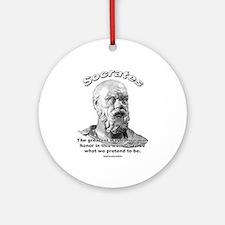 Socrates 01 Ornament (Round)