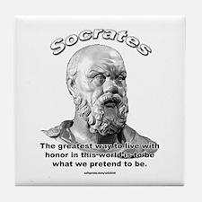 Socrates 01 Tile Coaster