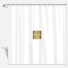 Arabic text art Shower Curtain