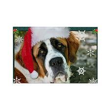 Christmas St. Bernard Dog Pho Magnets