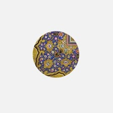 Arabian Floral Pattern Mini Button