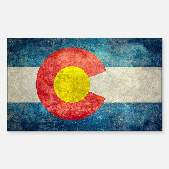 Colorado State flag retro style vintage Decal