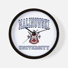 MALINOWSKI University Wall Clock