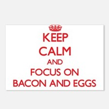 Cute Eggs bacon Postcards (Package of 8)
