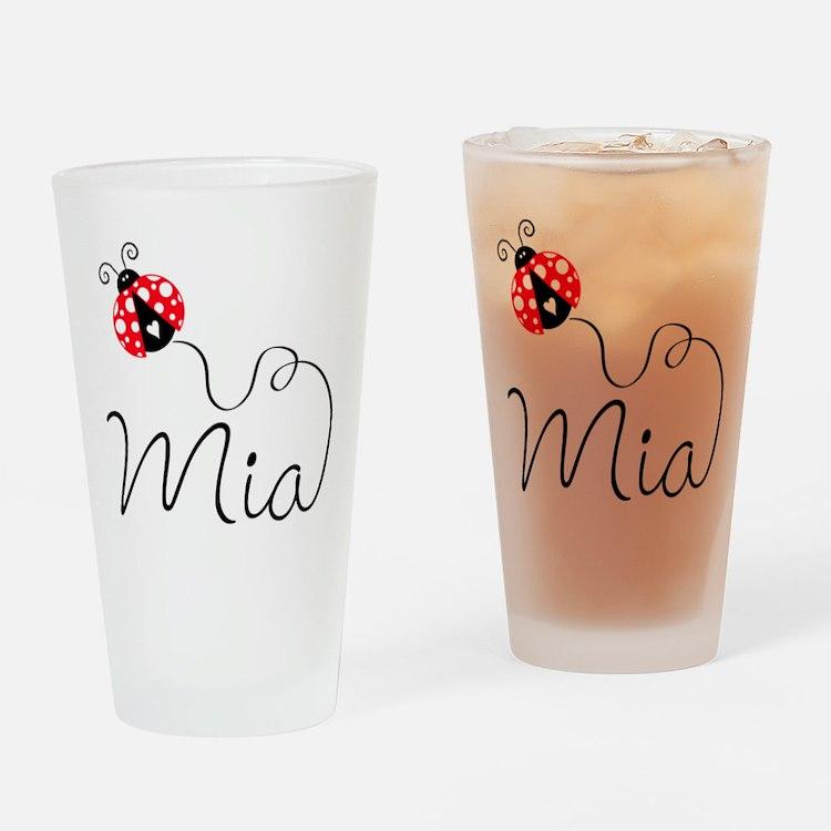Ladybug Mia Drinking Glass