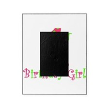 First Birthday Girl Pink Green Picture Frame