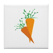 Carrots Tile Coaster