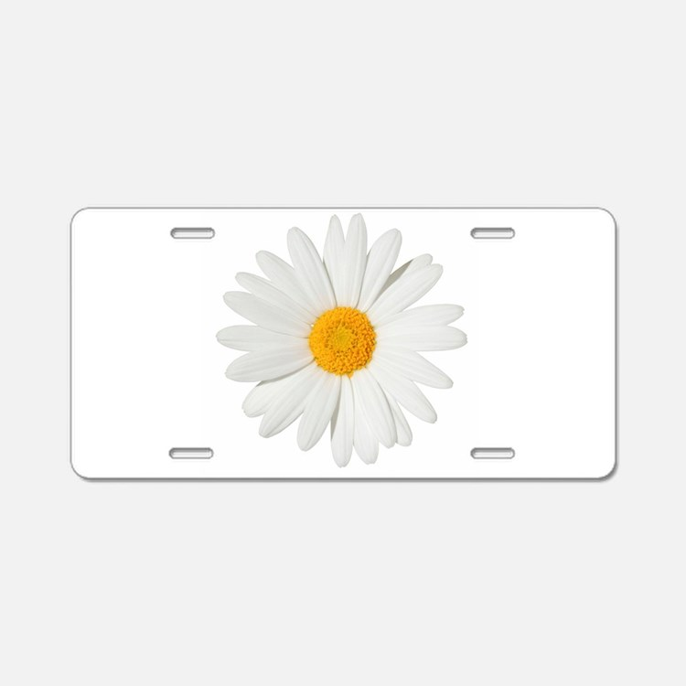 Cute Daisy Aluminum License Plate
