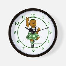 Molly the Highland Dancer Bear Wall Clock