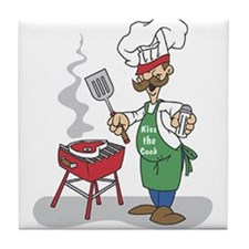 BBQ Chef Tile Coaster