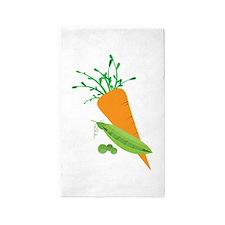 Green Peas Carrot 3'x5' Area Rug