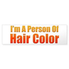Person Of Hair Color Bumper Bumper Sticker