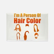 Person Of Hair Color Magnets