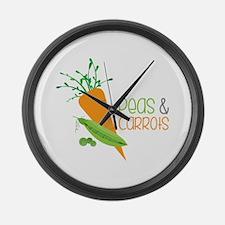 Peas&Carrots Large Wall Clock
