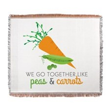 We Go Together Like Peas & Carrots Woven Blanket