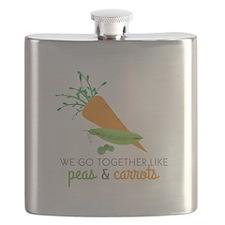 We Go Together Like Peas & Carrots Flask