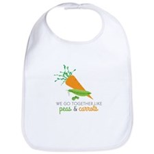 We Go Together Like Peas & Carrots Bib
