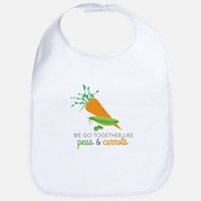 We Go Together Like Peas & Carrots Bib